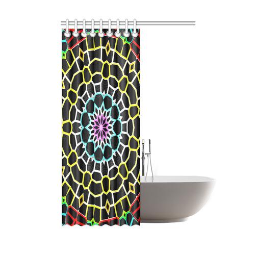 """Live Line Mandala Shower Curtain 48""""x72"""""""