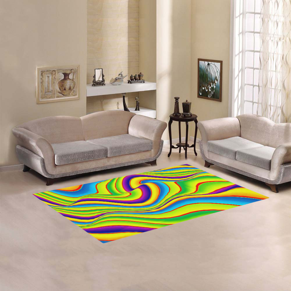 Summer Wave Colors Area Rug 5'x3'3''