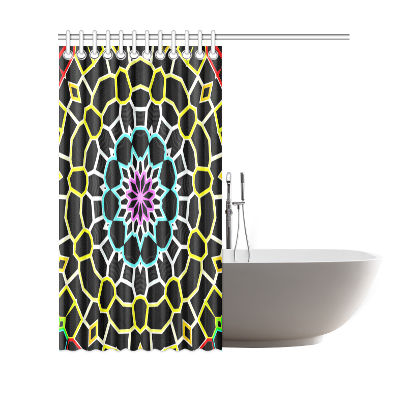 """Live Line Mandala Shower Curtain 69""""x70"""""""