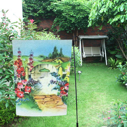 Country Flower Garden Garden Flag 12''x18''(Without Flagpole)