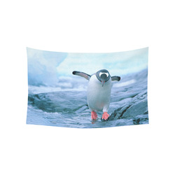 "Cute Baby Penguin Antarctic Landscape Cotton Linen Wall Tapestry 60""x 40"""
