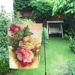 Vintage Rose Bouquet Garden Flag 12''x18''(Without Flagpole)