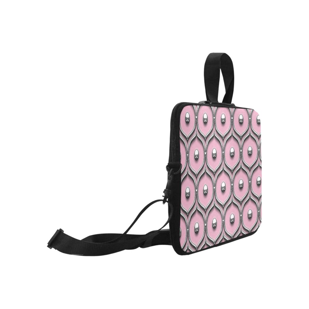 "Pink Chrome Laptop Handbags 17"""