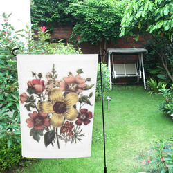 Vintage Floral Garden Flag 12''x18''(Without Flagpole)