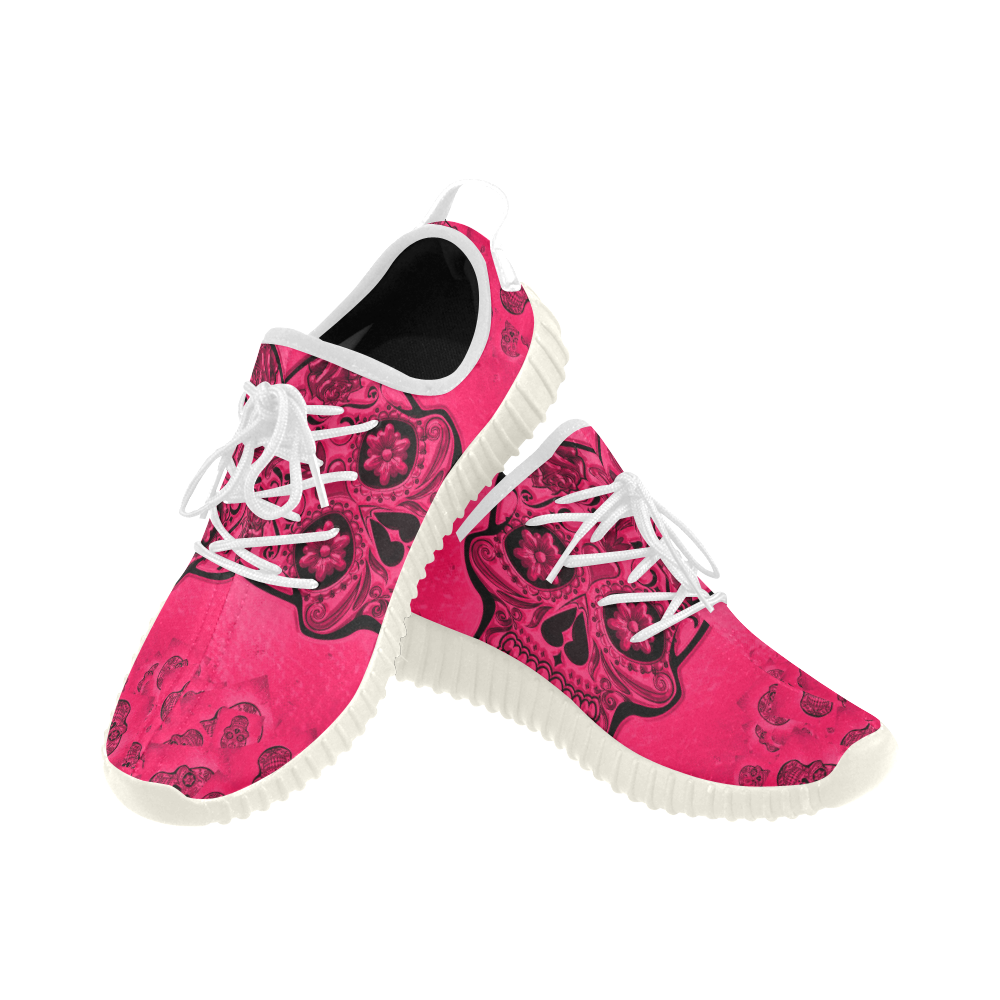 Skull20170266_by_JAMColors Grus Women's Breathable Woven Running Shoes (Model 022)