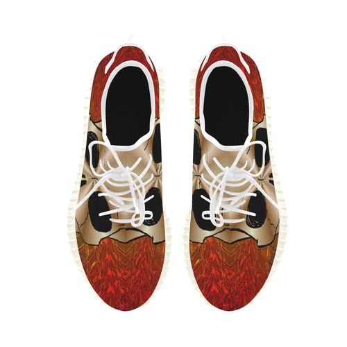 Skull20170528_by_JAMColors Grus Women's Breathable Woven Running Shoes (Model 022)
