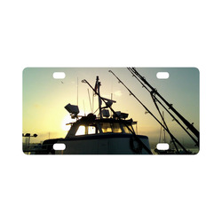 Fishing At Dawn Classic License Plate