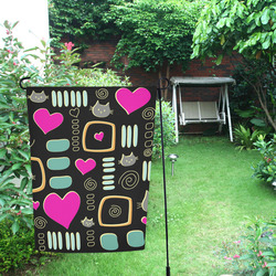 Love Cats Garden Flag 12''x18''(Without Flagpole)