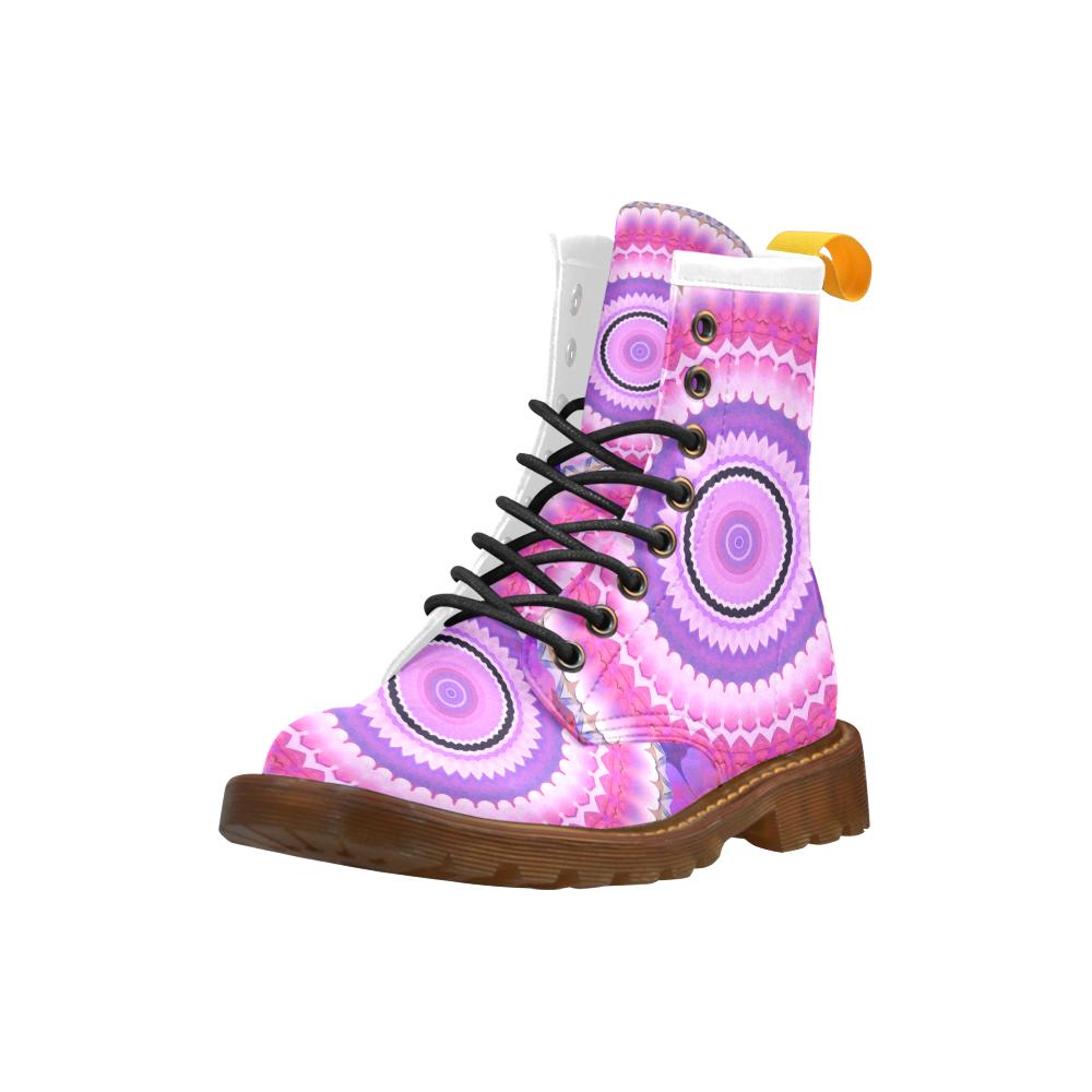 Freshness Energy Mandala High Grade PU Leather Martin Boots For Women Model 402H