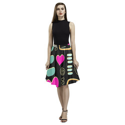 Love Cats Melete Pleated Midi Skirt (Model D15)