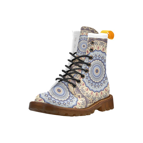 Soft and Warm Mandala High Grade PU Leather Martin Boots For Women Model 402H