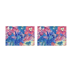 wonderful floral 22C  by FeelGood Placemat 12'' x 18'' (Two Pieces)