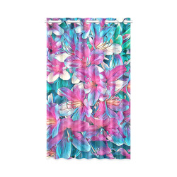 """wonderful floral 25A  by FeelGood New Window Curtain 50"""" x 84""""(One Piece)"""