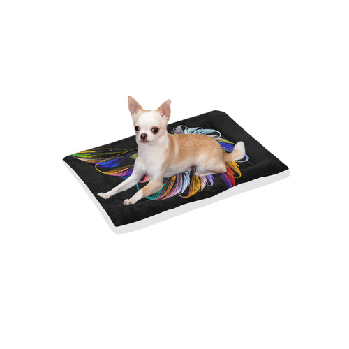 """Colorful Fractal Embroidery Pet Bed 24""""x13"""""""