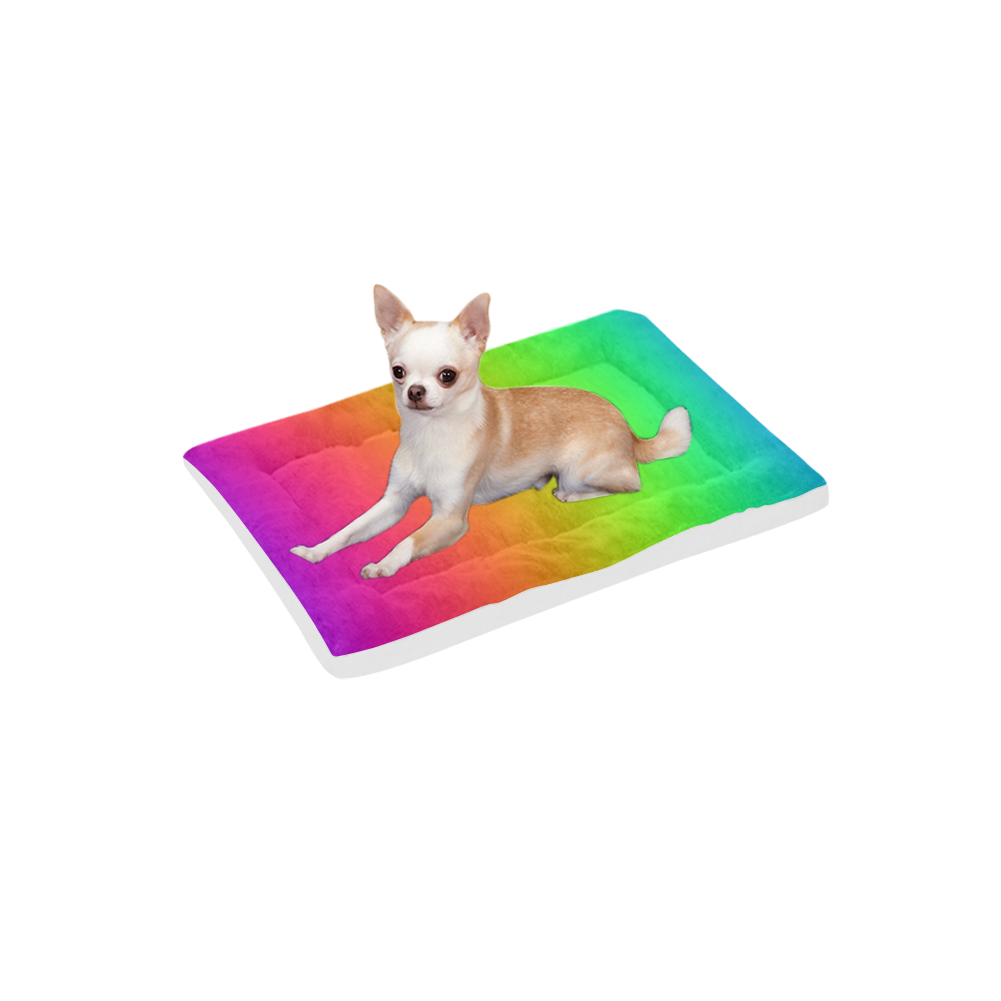 "Love the Rainbow Pet Bed 22""x13"""