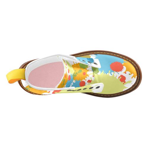 New Splash Design High Grade PU Leather Martin Boots For Women Model 402H