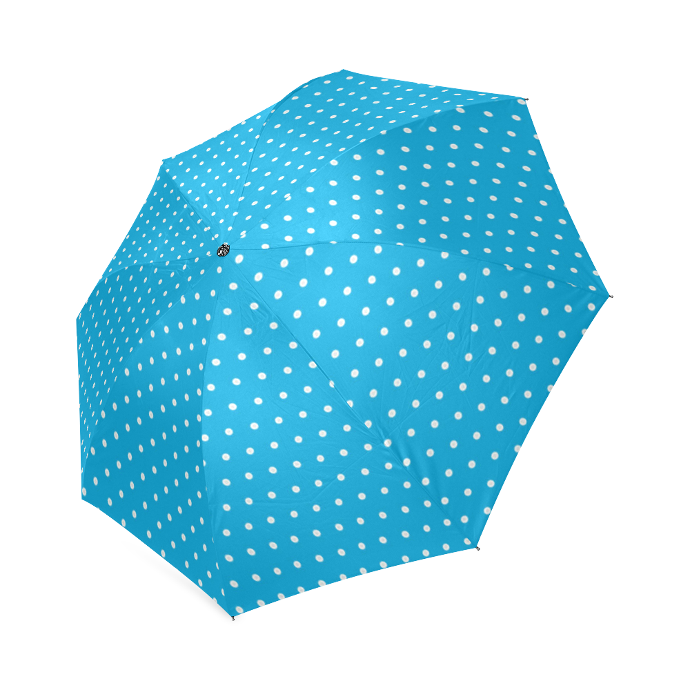 Polka Dot Pin SkyBlue - Jera Nour Foldable Umbrella (Model U01)