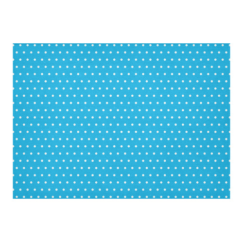 """Polka Dot Pin SkyBlue - Jera Nour Cotton Linen Tablecloth 60""""x 84"""""""