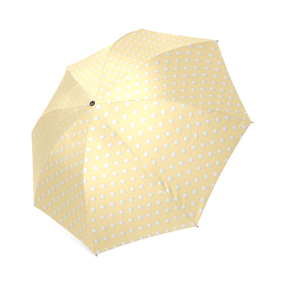 Polka Dot Pin Pastel Orange - Jera Nour Foldable Umbrella (Model U01)