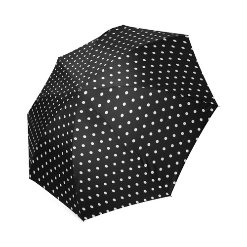 Polka Dot Pin Black - Jera Nour Foldable Umbrella (Model U01)