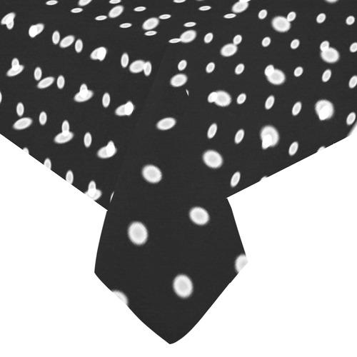 """Polka Dot Pin Black - Jera Nour Cotton Linen Tablecloth 60""""x120"""""""