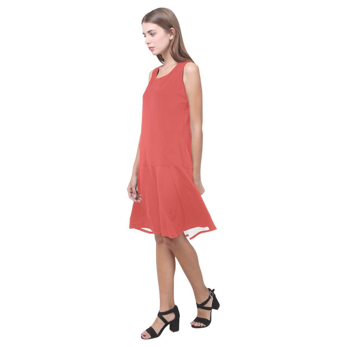 Grenadine Sleeveless Splicing Shift Dress(Model D17)