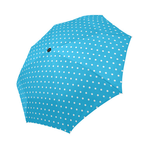 Polka Dot Pin SkyBlue - Jera Nour Auto-Foldable Umbrella (Model U04)