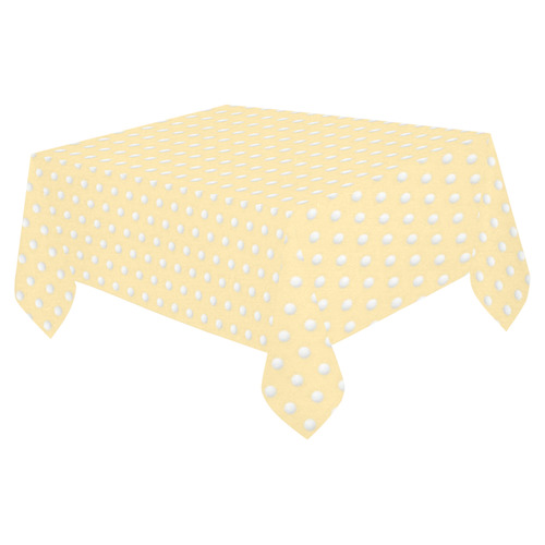 "Polka Dot Pin Pastel Orange - Jera Nour Cotton Linen Tablecloth 52""x 70"""