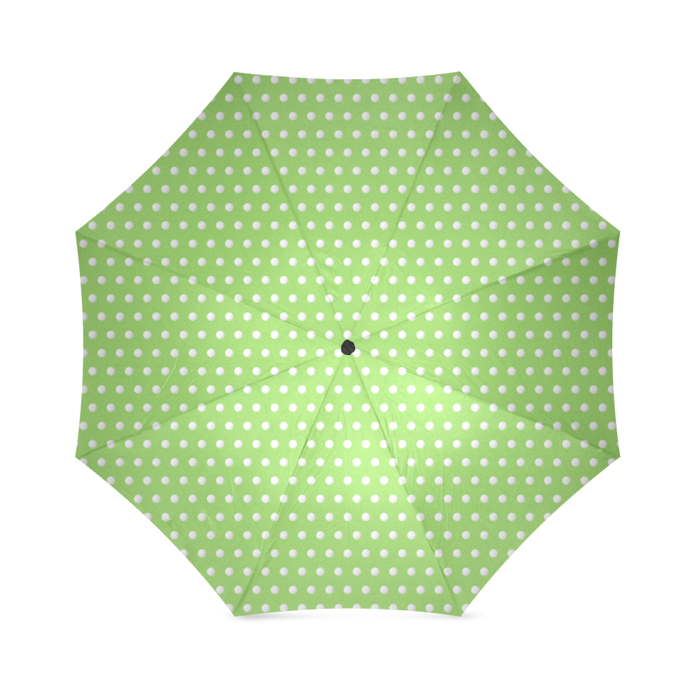 Polka Dot Pin Lime - Jera Nour Foldable Umbrella (Model U01)