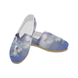 Magic Owl and Water Unisex Casual Shoes (Model 004)