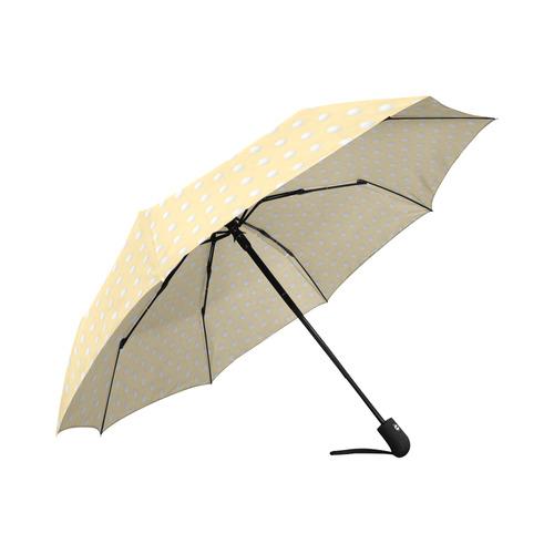 Polka Dot Pin Pastel Orange - Jera Nour Auto-Foldable Umbrella (Model U04)