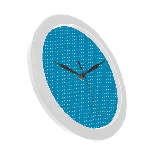 Polka Dot Pin SkyBlue - Jera Nour Circular Plastic Wall clock