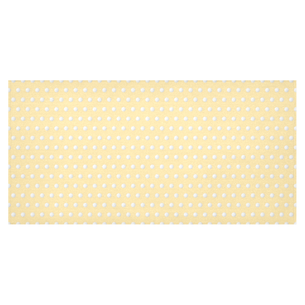 """Polka Dot Pin Pastel Orange - Jera Nour Cotton Linen Tablecloth 60""""x120"""""""