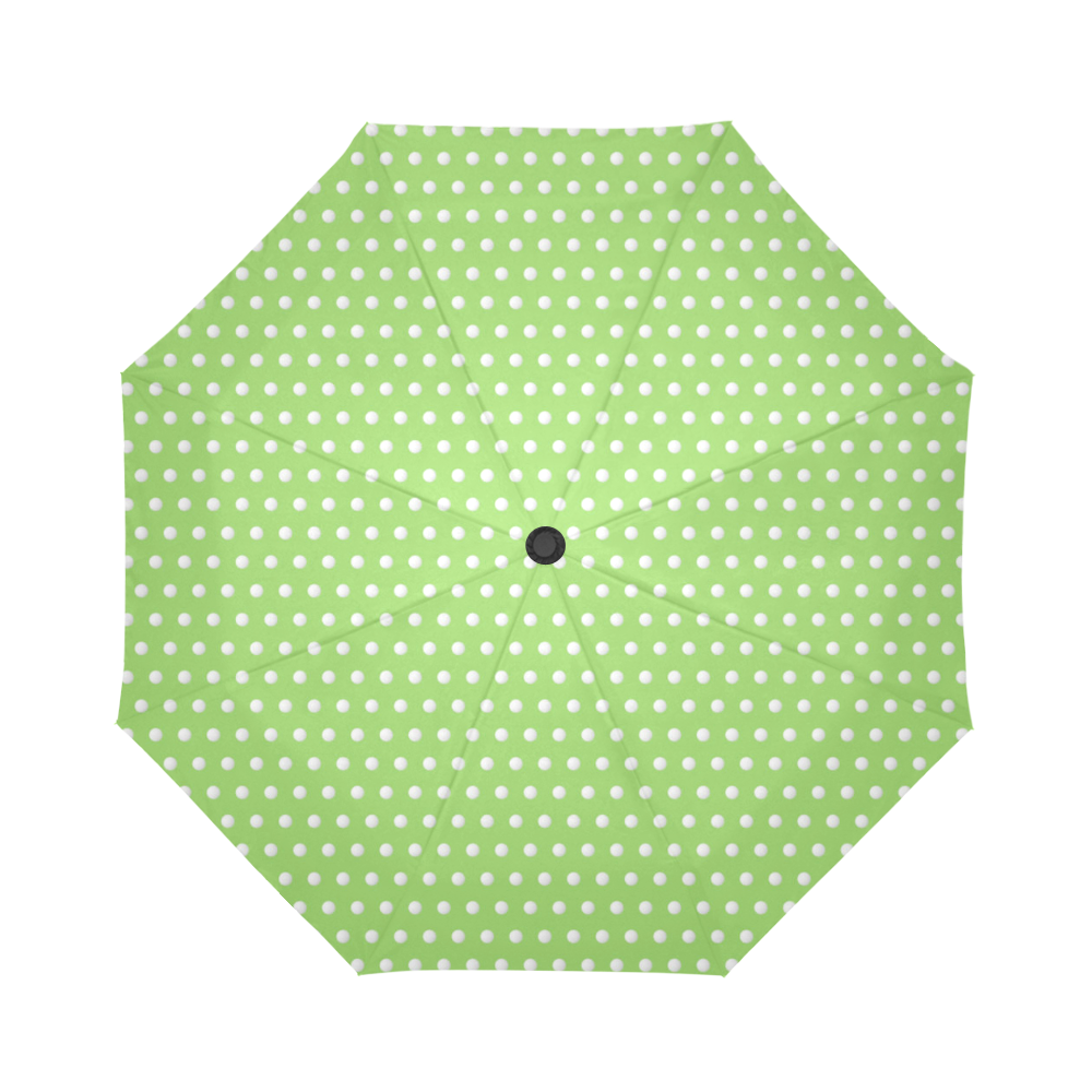 Polka Dot Pin Lime - Jera Nour Auto-Foldable Umbrella (Model U04)