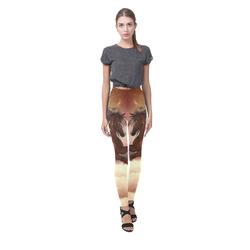 Wonderful wild horse in the sky Cassandra Women's Leggings (Model L01)