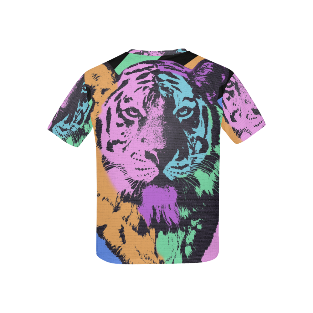 TIGER MULTICOLOR Kids' All Over Print T-shirt (USA Size) (Model T40)