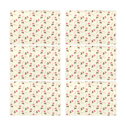 Popsicle Ice Cream Pattern Placemat 12'' x 18'' (Six Pieces)