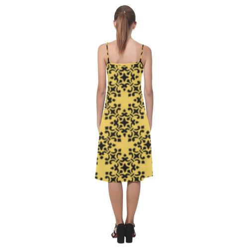 Primrose Yellow Damask Alcestis Slip Dress (Model D05)
