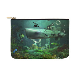 Awesome submarine with orca Carry-All Pouch 12.5''x8.5''