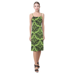 Greenery Damask Alcestis Slip Dress (Model D05)