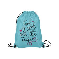 "God is Good All the Time Medium Drawstring Bag Model 1604 (Twin Sides) 13.8""(W) * 18.1""(H)"
