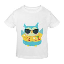 Cool Beach Owl Palm Tree Shades Sunny Youth T-shirt (Model T04)