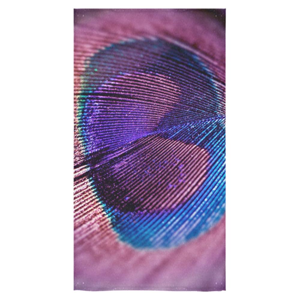 "Purple Peacock Feather Bath Towel 30""x56"""