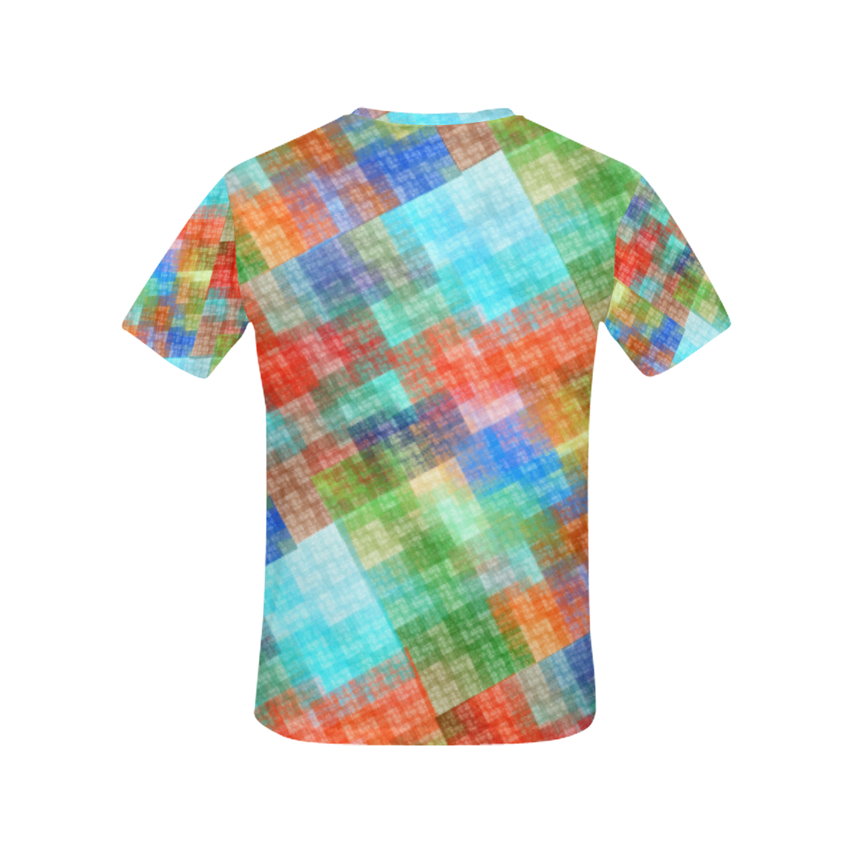 Funny Colorful Check All Over Print T-Shirt for Women (USA Size) (Model T40)