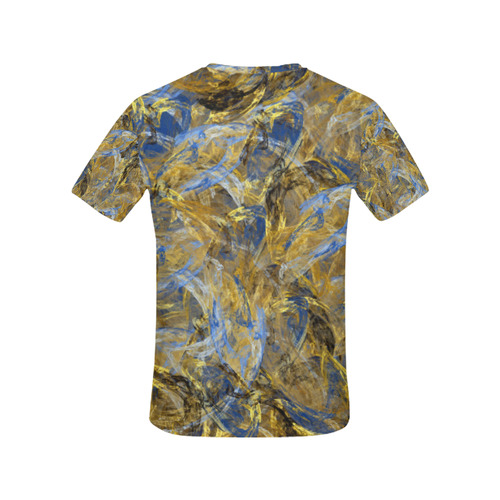 Antique Anciently Gold Blue Vintage Design All Over Print T-Shirt for Women (USA Size) (Model T40)