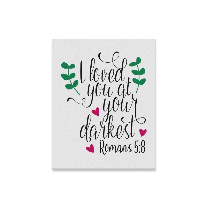 "Romans 5:8 Canvas Canvas Print 16""x20"""