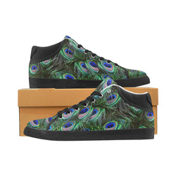 Peacock Feathers Women's Chukka Canvas Shoes (Model 003)