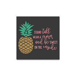 """Stand_Tall_pineapple Canvas Canvas Print 16""""x16"""""""