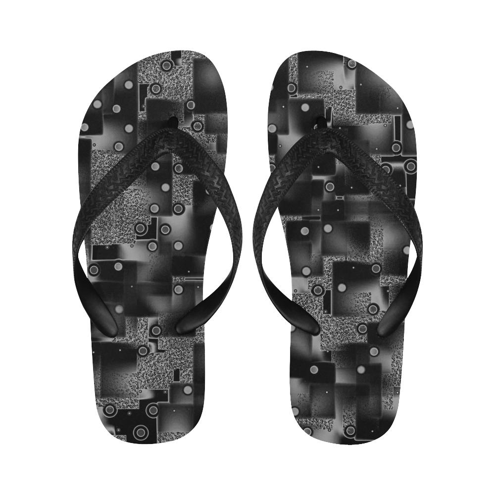 Stucco and Co. B&W - Jera Nour Flip Flops for Men/Women (Model 040)