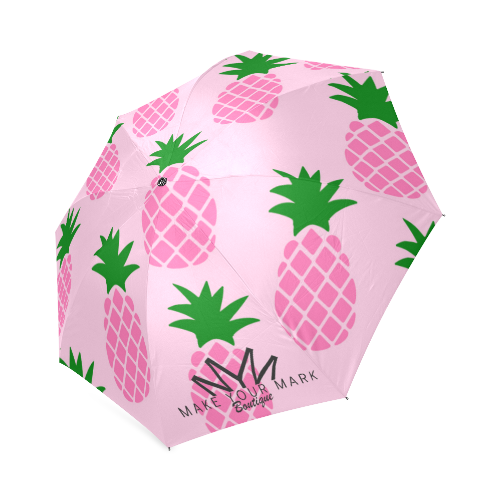 Pink Pineapple MYM Foldable Umbrella (Model U01)